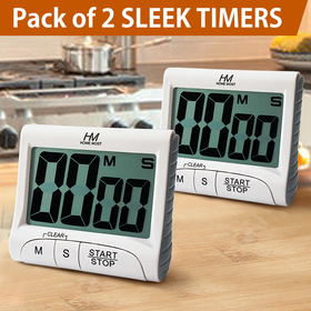 HOME MOST [Pack of 2] Large Display Kitchen Timer - 3